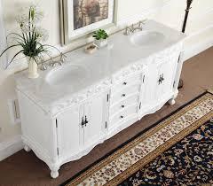 Double Vanity Top Adelina 72 Inch White Antique Double Bathroom Vanity