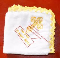 baptism blanket personalized baby towel wash cloth handkerchiefs infant feeding saliva