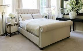 Bedroom Furniture Chesterfield Chesterfield Style Fabric Tufted Bed Club Furniture