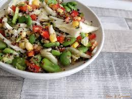comment cuisiner les feves surgel s salade colorée aux fèves
