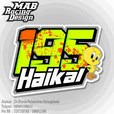 gambar desain nomer racing mab racing design desain nomor road race dan drag bike