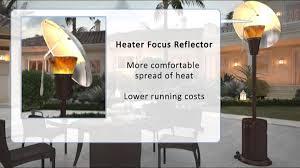 patio heater btu mirage 38 200 btu heat focus patio heater youtube