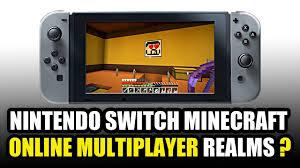 nintendo switch minecraft online multiplayer youtube