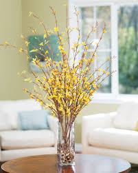 Fake Flower Centerpieces by Embrace Spring With Forsythia Silk Flower Arrangement At Petals