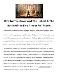 download the hobbit the battle of the five armies full movie by