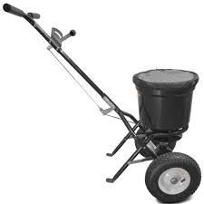 titan 50 lb professional broadcast spreader for lawn fertilizer seed
