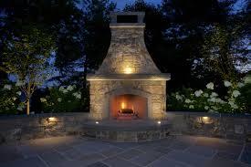 bluestone patio and outdoor fireplace madison nj rusk