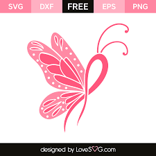 butterfly cancer ribbon lovesvg com