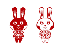 rabbit rabbit rabbit rabbit vector cutting free vector 3d model icon