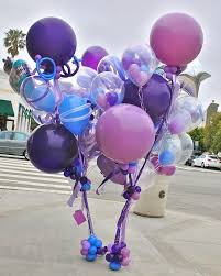 baloon bouquets colorful balloon bouquets in purple and blue balloon centerpieces