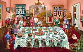thanksgiving dinner canvas print canvas by colette raker