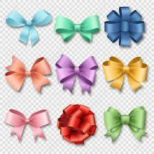 christmas gift bow ribbons set for christmas gifts gift bows with ribbons vector