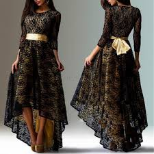us women long sleeve floral lace long maxi dresses evening party