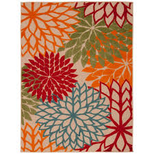 Coral Outdoor Rug by 5 X 7 Outdoor Rugs Rugs The Home Depot
