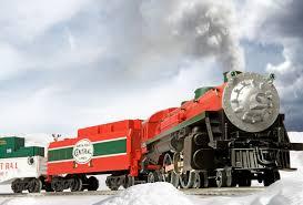pole central christmas train conventional 4 4 2 steam loco 25