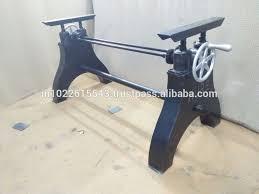 industrial tables for sale elegant industrial table base inside vintage height adjustable crank