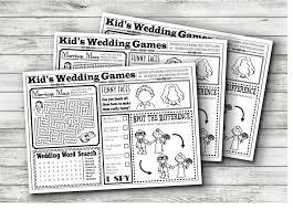 wedding kids activity sheet instant download 2465735 weddbook