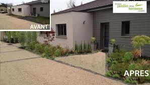 Deco Entree Exterieur Charmant Aménagement Extérieur Devant Maison Avec Lamanagement Du