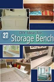 Build Storage Bench Plans by 26 Diy Storage Bench Ideas Guide Patterns