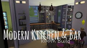 modern kitchen bars the sims 4 room build modern kitchen u0026 bar requested youtube