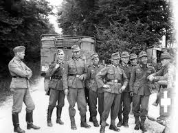 siege social swiss german soldiers at a border crossing between switzerland and