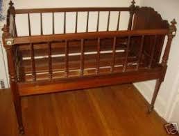 cost to ship antique 1855 pre civil war wood baby bed crib crad