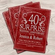 designs vintage 40th anniversary invitations with 40th