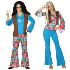 Hippie Halloween Costumes Déguisements Couple Hippie Années 70 Hippie Costume Costumes