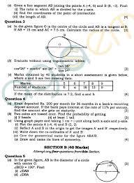 Icse Class X Exam Question Papers 2012 Mathematics Aglasem Schools