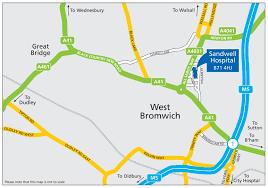 Birmingham England Map by Sandwell General Hospital Sandwell And West Birmingham Hospitals