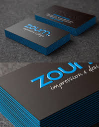 Thickness Of Business Card Zoum Business Cards With Black And Blue Edges Sharp Design