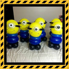 minions centerpieces minion balloon decor center pieces yelp