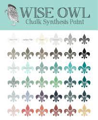 smokey quartz wise owl chalk synthesis paint the pink moose