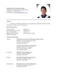 latest resume format 2015 philippines best selling exle resume for filipino teachers resume ixiplay free resume