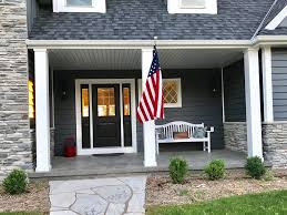Porch Flag The Gull Cottage New Construction Waterf Vrbo