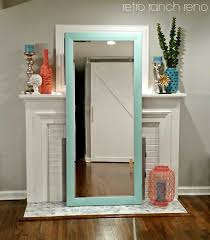 decorating white leaner mirror pearl hourglass 45x82 floor
