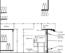 home design graceful standard restaurant bar dimensions