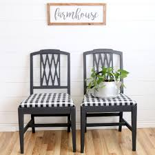 modern farmhouse gingham chairs a fresh squeezed life