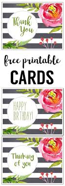 25 unique free printable cards ideas on thank you