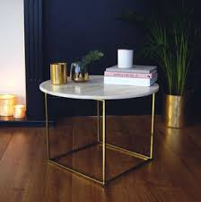 marble gold coffee table copper and industrial coffee tables notonthehighstreet com
