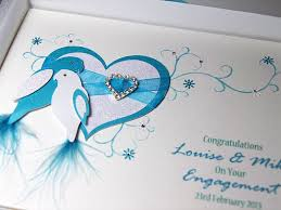 congratulations on engagement card duet luxury handmade engagement card