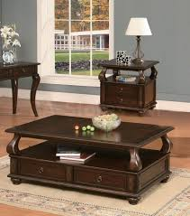 coffee table dark wood round and end is tables sets living room