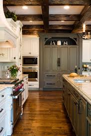 kitchen style country kitchen distressed gray cabinets stainless