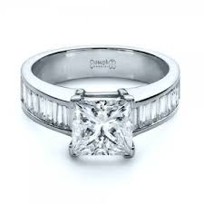 Wedding Rings Princess Cut by Princess Cut Engagement Rings Custom Design In Bellevue And Seattle