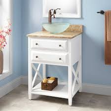 white wood sink vanity signature hardware