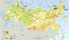 Russia Time Zone Map by Russia Physical Map Physical Map Of Russia Physical Map Of