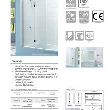 merlyn right handed hinged square bath screen 352 56 at allbits