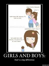 Jealous Girl Meme - the difference between boys and girls meme guy