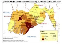 Bay Of Bengal Map Cyclone Nargis Affected Area Map Bengal Bay U2022 Mappery