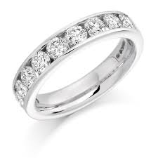 arcadia wedding band brilliant cut diamond channel set wedding eternity ring 1 50